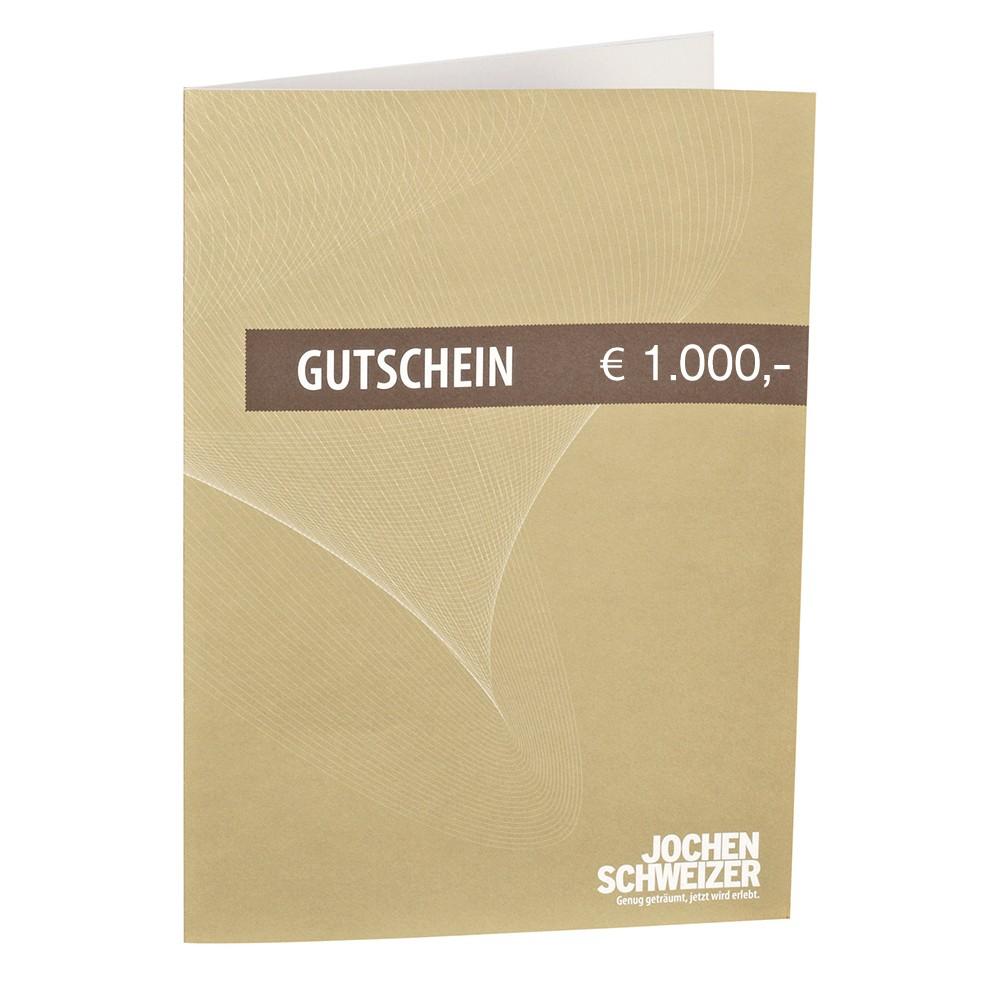 Jochen Schweizer Gutschein € 1000,-