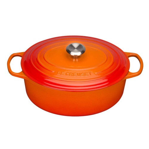 Le Creuset Bräter Signature oval, ofenrot