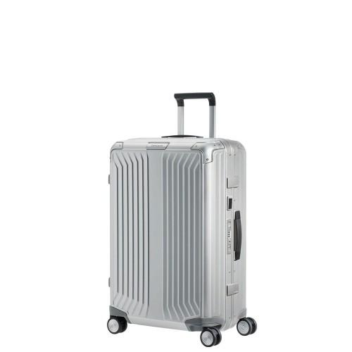 Lite-Box Alu Trolley mit 4 Rollen 55cm, silber