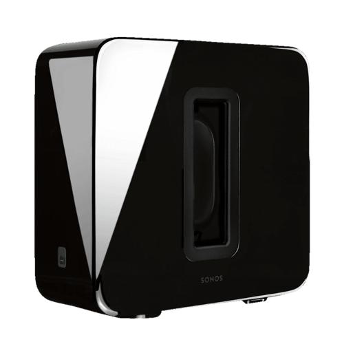 SONOS SUB WLAN-Subwoofer für Sonos Speaker, Subwoofer App-steuerbar, Schwarz