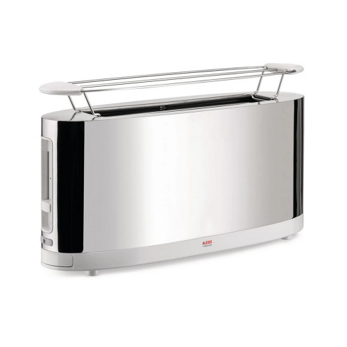 Alessi Toaster mit Brötchenaufsatz